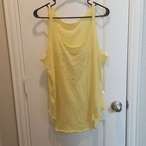MNG by Mango yellow triangle print tank top.